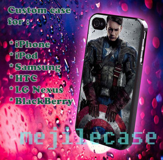 Captain america iphone 4/4s iphone 5/5s/5c Blackberry by mejile, $12.10