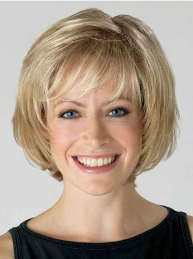 Comfortable Lace Front Bobs Blonde Short Wigs Coiffures
