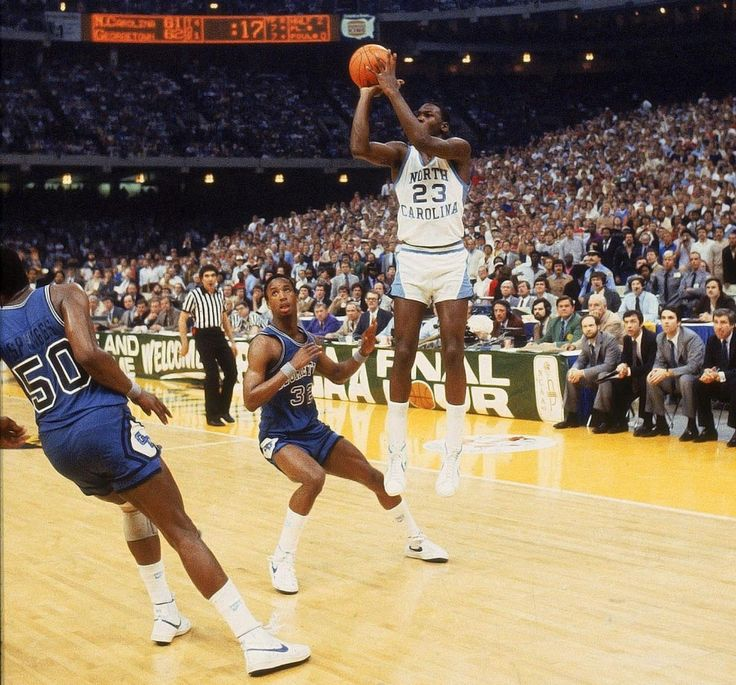 ACC Freshman of the Year, North Carolina's Michael Jordan hits the game-winning jumper to beat Georgetown 63-62 in the 1982 NCAA Championship game. Jordan made his return to basketball 20 years ago today, after nearly two years of retirement. (Heinz Kluetmeier/SI)GALLERY: Michael Jordan: The College Years