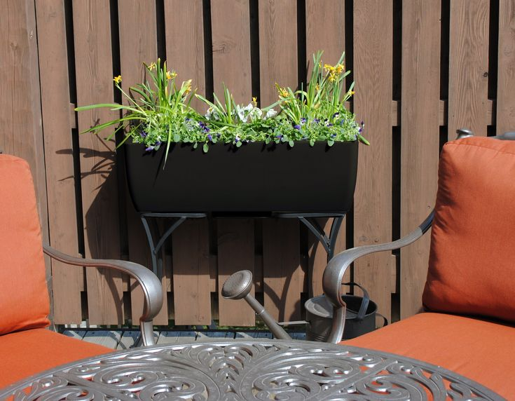 36x15 Black RTS Home Accents Elevated Planter