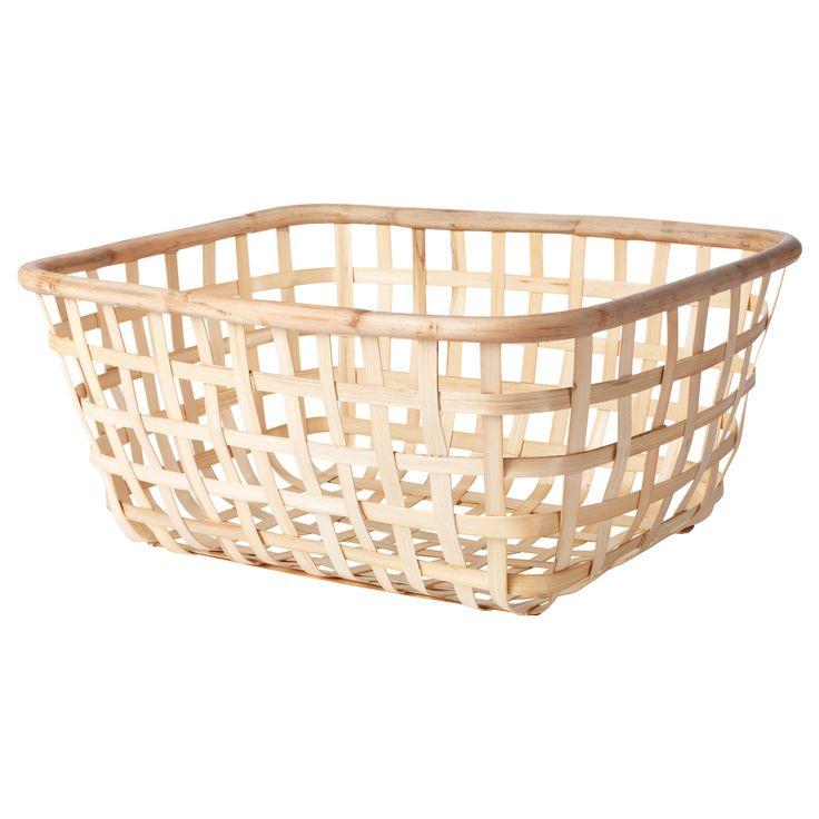 IKEA - VIKTIGT, Tvättkorg, Varje tvättkorg flätas för hand och är därför unik.