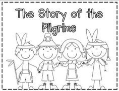 thanksgiving project to keep kids busy while you relax and eat - coloring book of pilgrims