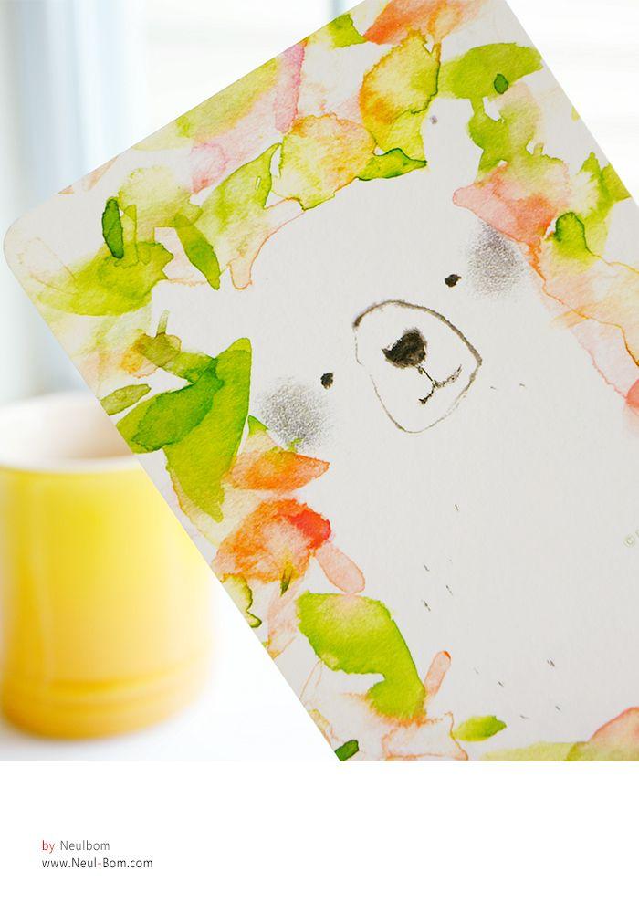Green Bear] illust by neul-bom