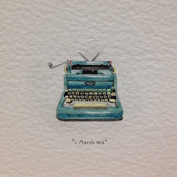Day 60 : To one of my oldest friends, Nelle, on her birthday. Writer of the most beautiful letters I've ever had the pleasure of reading. 22 x 22 mm. #365paintingsforants #miniature #watercolour...
