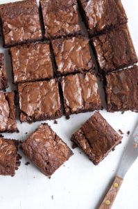 2014. Aug 24. Brownies. Nigella Lawson How to be a domestic Goddess recipe. Halved ingredients, it is a HUGE recipe.