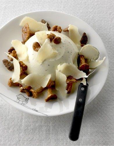 La chic : panna cotta aux champignons pour 4 personnes - Recettes Elle à Table - Elle à Table