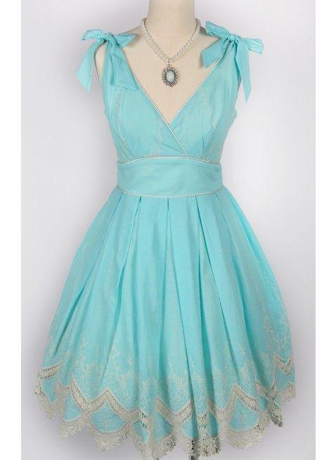 Blue Hawaii Tie Dress