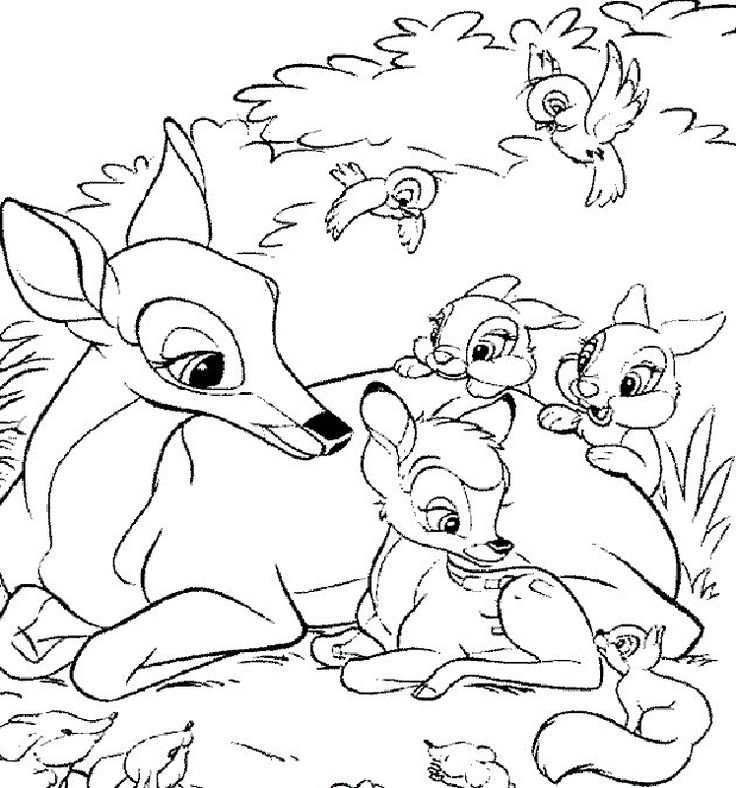 Bambi coloring pages printable