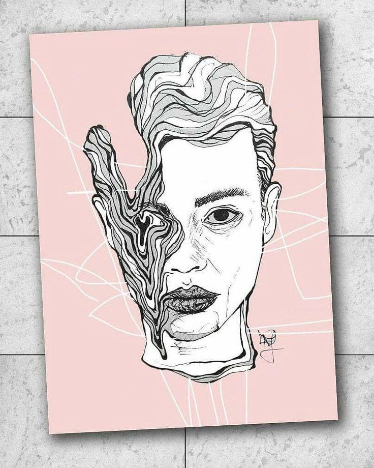 LIQUID Faces [2] ~ janofarkas.art  .  #art #artwork #artist #instart #modernart #contemporaryart #sketch #graphicdesig #janofarkasart #contemporary #high #dope #illustration #surrealism #painter #graphic #drawing