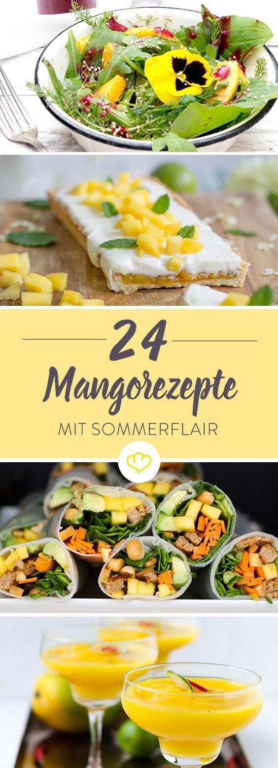 Eine Schatzkiste mit grandiosen Mango-Ideen. Herzhaft, süß, zum Schlürfen, zum Knuspern und Naschen - 24 Rezepte für Mango-Fans.