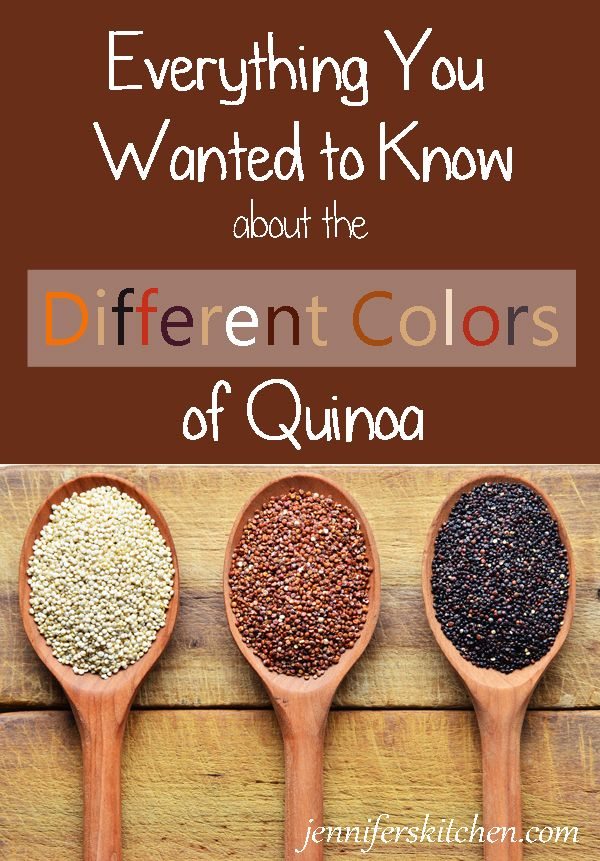 What's up with all the different colors of quinoa?