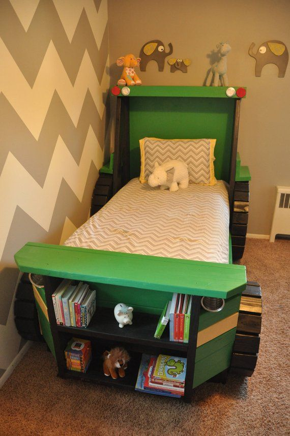Tractor Bed Plans Pdf Format Twin Size For A Kid Bedroom