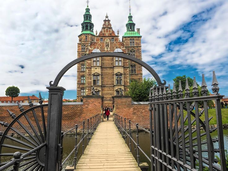 Rosenborg Castle in Kings Garden in Copenhagen, Denmark, is home to the Danish Royal Jewels, coronation thrones, and ancient tapestries.