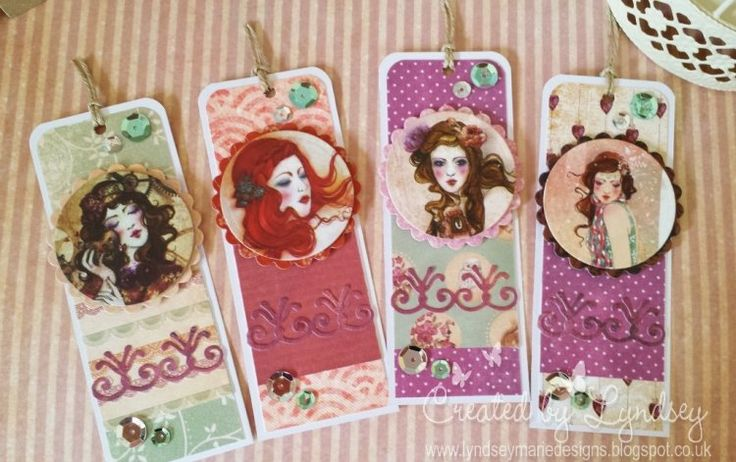 SANTORO'S Willow tags featuring the SANTORO'S Willow papers and character toppers, made by DT member Lyndsey