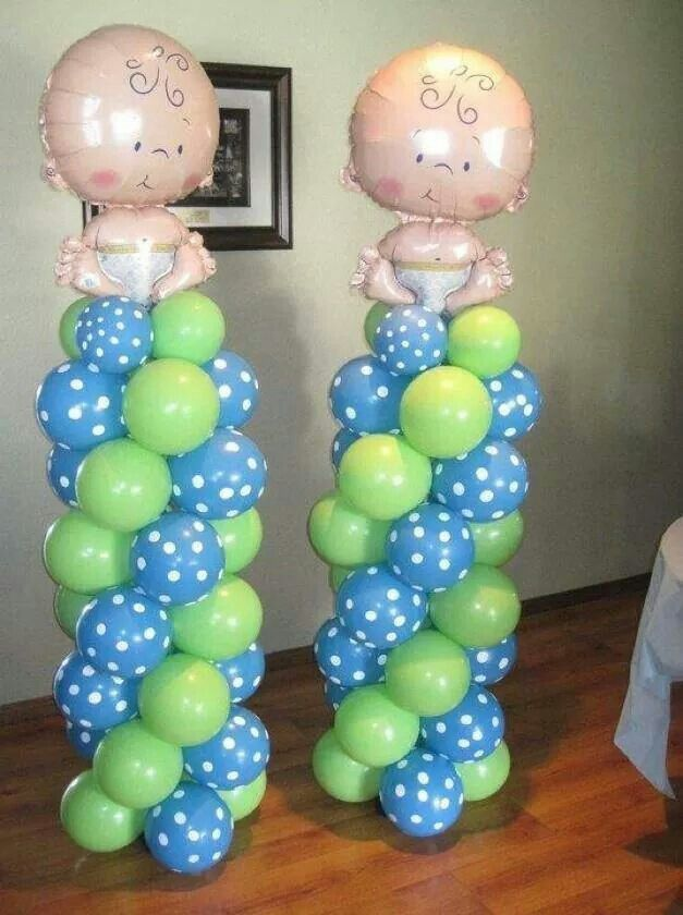 Boy baby shower Ballon columns