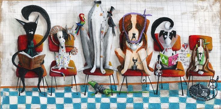"""""""Sala de Espera"""" por Paulo Galindro Técnica mista sobre painel de MDF 1.22x0.61m Maio de 2013"""