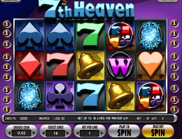Play the 7th Heaven video slot game totally free at 1OnlineCasino.com !