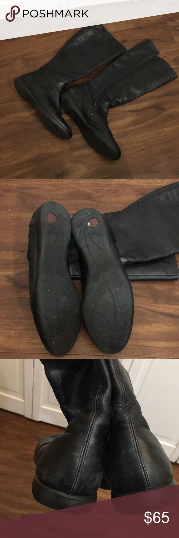 Camper boots, size 40. (9) Black camper boots, size 40 (9). Soft leather, great boots! Worn, as in photos, but still has a lot of life left! I am a true size 9. Camper Shoes