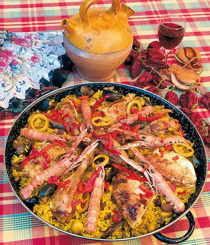 Paella in Spain.