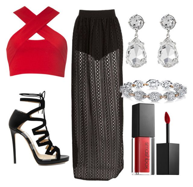 """""""night out sexy"""" by alexandra-almanza on Polyvore featuring Motel, Kenneth Jay Lane, Harry Kotlar, Jimmy Choo and Smashbox"""