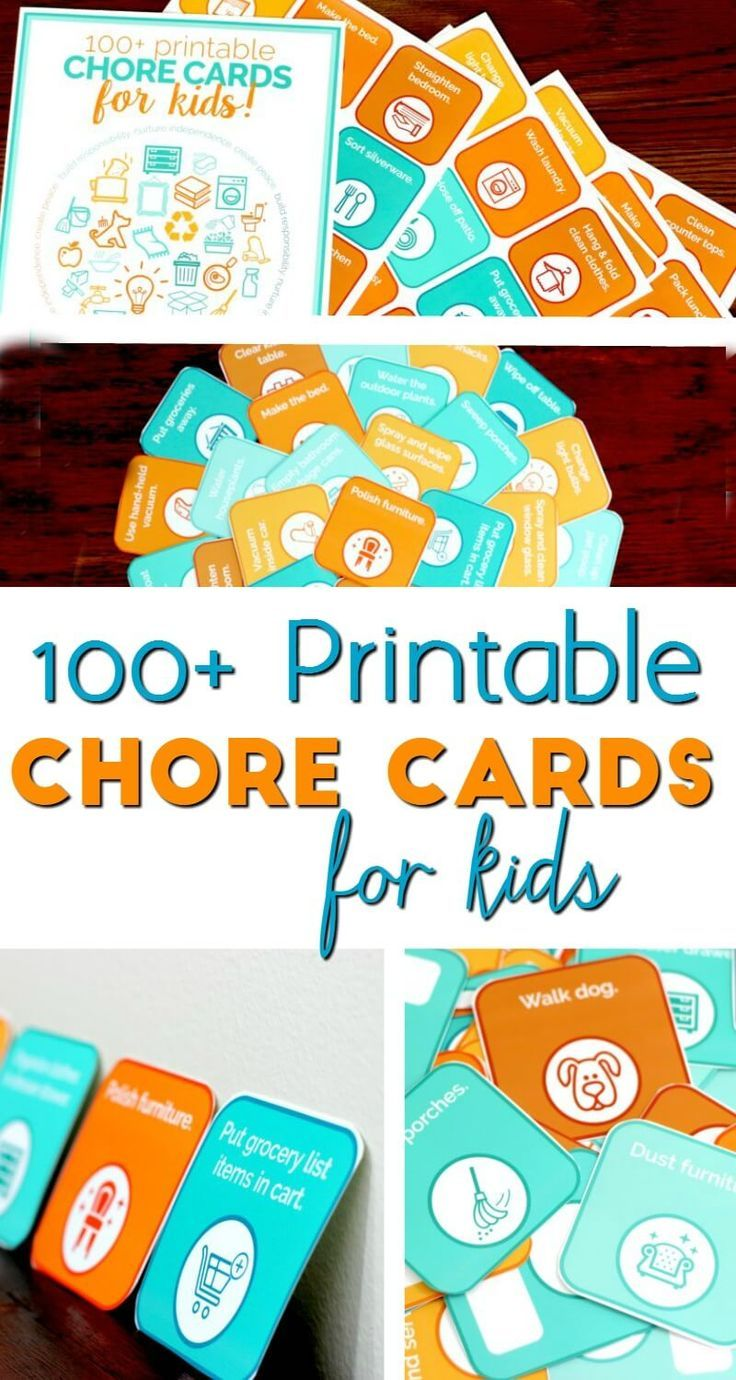 Do you want your kids to grow up responsible and willing to help out around the house? Here are some printable chore cards for toddlers and preschoolers.