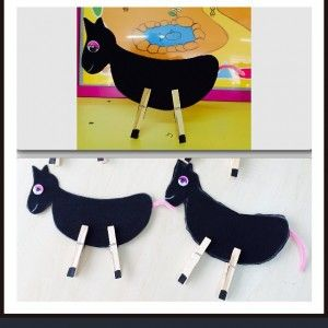 clothespin horse crafts