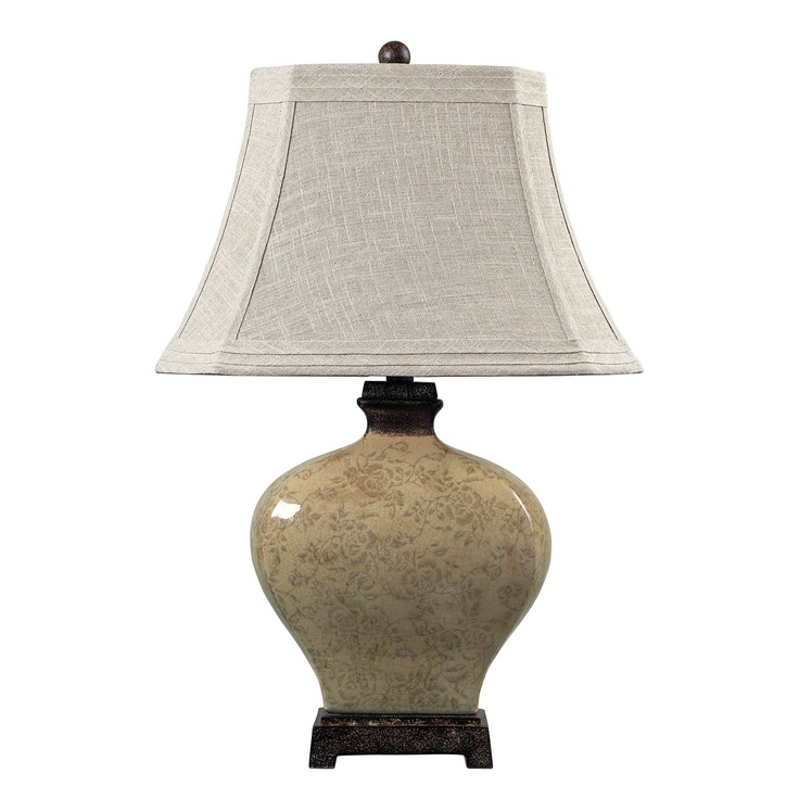 Sterling industries 113 1132 ceramic distressed floral glaze table lamp