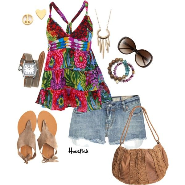 A fashion look from April 2013 featuring Desigual tops, AllSaints shorts и Cocobelle sandals. Browse and shop related looks.