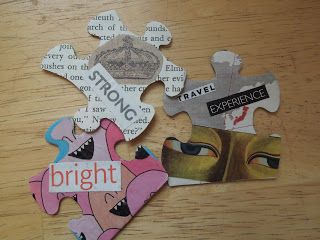 Pieces of ME! - using a puzzle, create pieces that represent a part of the client's life and interests!