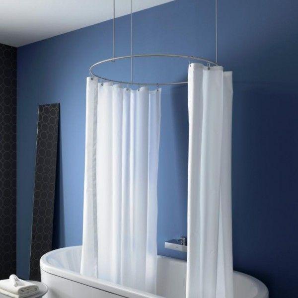 die besten 25 duschvorhangstange ideen auf pinterest. Black Bedroom Furniture Sets. Home Design Ideas