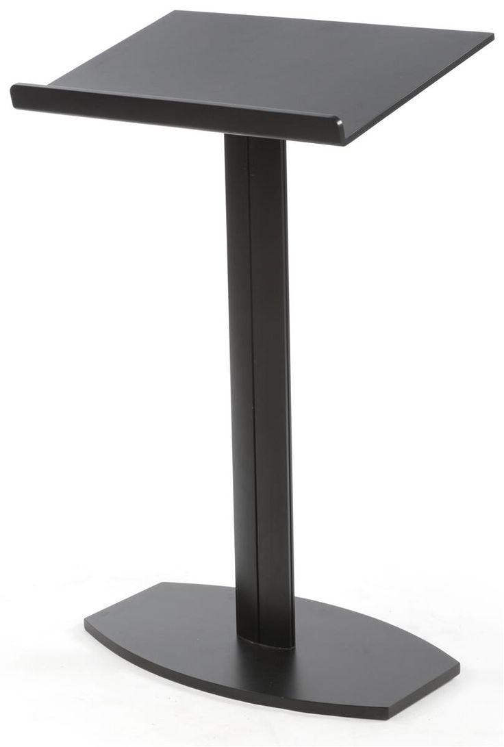 Podium For Floor With Pedestal Design Aluminum Black