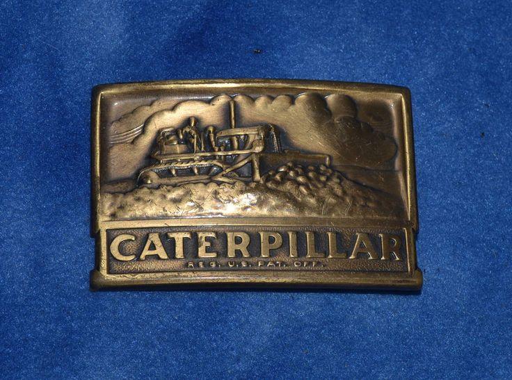 Vintage 1950's Caterpillar Bulldozer Dozer USA Made Belt Buckle #Caterpillar