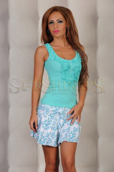 Top Fofy Blossom Turquoise