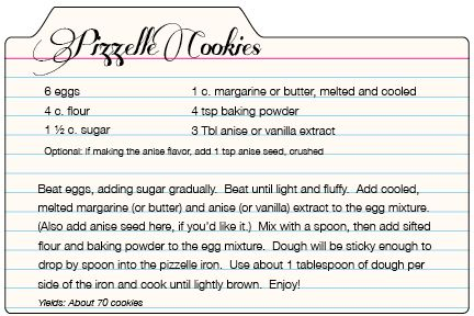 Pizzelle Cookie Recipe on Culinary Crafts Blog today.  Yum!