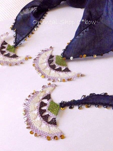 イーネオヤスカーフ:三角フラル|トルコオヤ・雑貨通販店C*bow