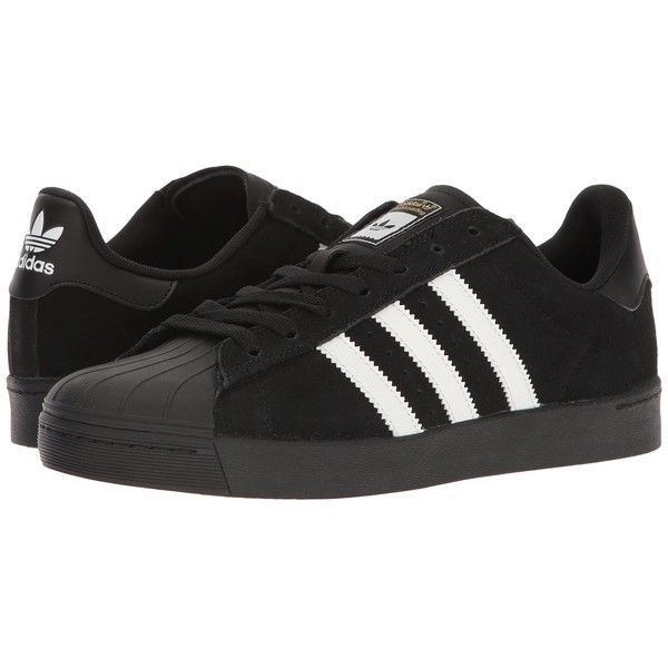 85a0e43bb39 adidas Skateboarding Superstar Vulc ADV (Black White Black) Skate... ( 80)  ❤ liked on Polyvore featuring shoes