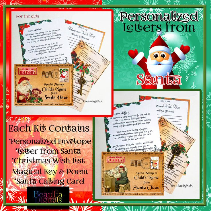 Letter from Santa Kit - Envelope/Scroll Letter/Wishlist/Santa Magic Key & more