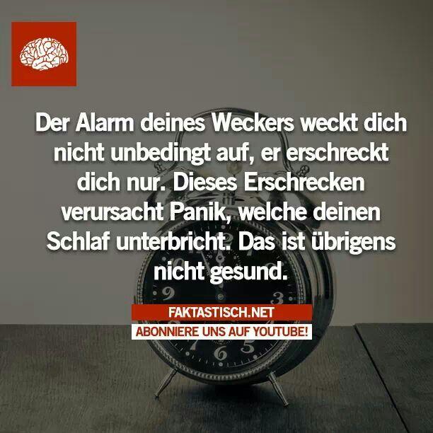 Aufwachen durch Wecker ist ungesund xD