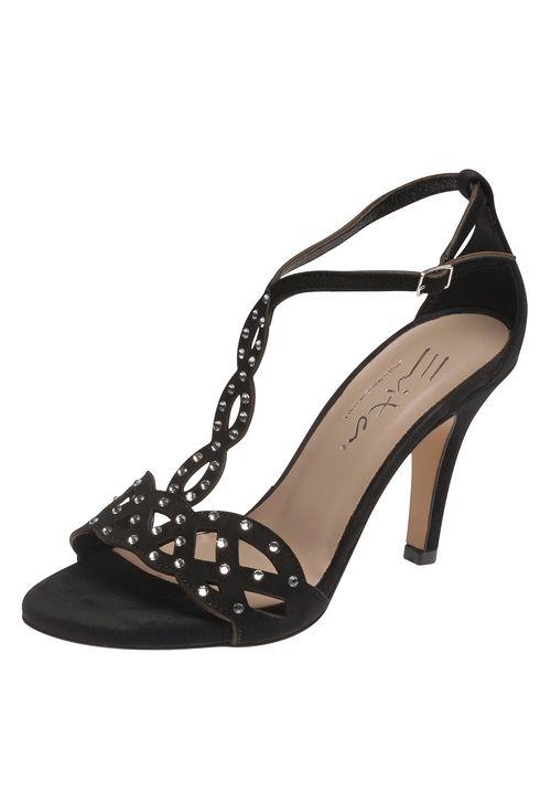Glänzen Sie  mit dieser zierlichen Sandalette aus echtem Leder von Evita Shoes! Wie der hellste Stern am Himmel werden Sie durch die Nacht funkeln dank der  kleinen Strass-Applikationen auf den zarten Riemchen. Das dezente Plateau erhebt Sie in höhere Sphären ohne auf Kosten der Bequemlichkeit zu gehen.   Evita Shoes - Leidenschaft für italienische Schuhe und Accessoires.Evita Shoes Damensandalette aus RaulederMit attraktiven StrassapplikationenDezentes PlateauHoher Tragekomfort durch…