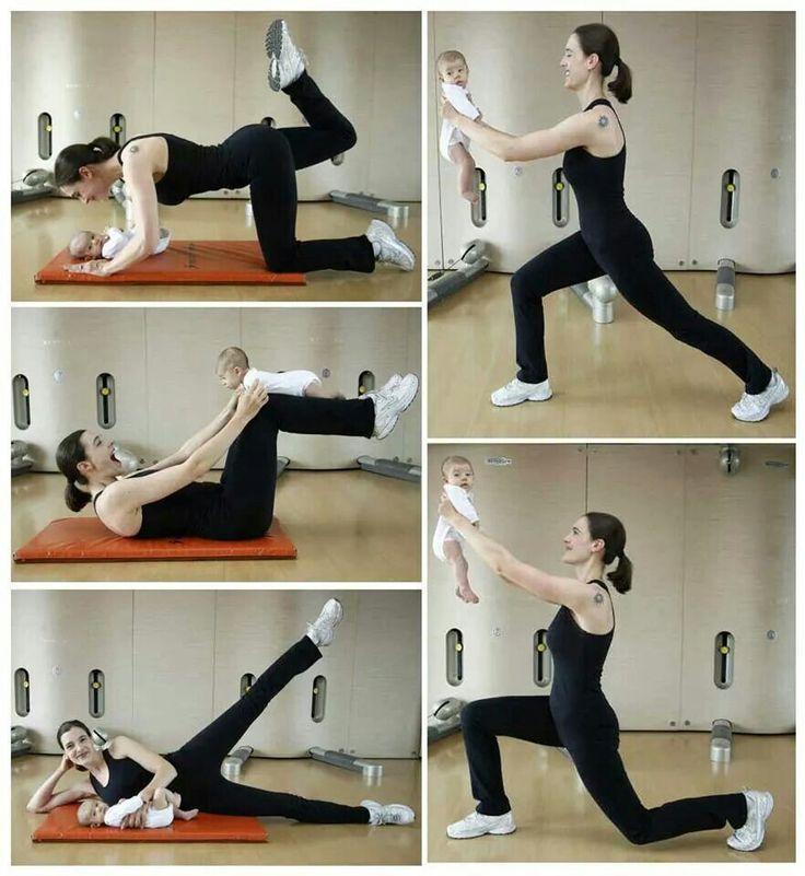 Tu bebé puede ser tu mejor aliado a la hora de hacer ejercicios - - -> http://tipsalud.com ✅
