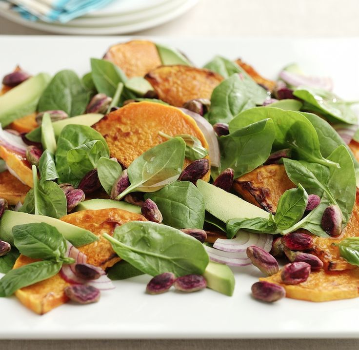 Salad #recipe - Roasted Pumpkin and Pistachio Salad  #healthyeating