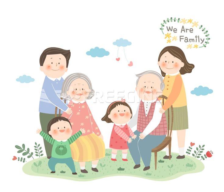 남성, 여자, 여성, 어린이, 엄마, 어머니, 아빠, 아버지, 가족, 남자, 할아버지, 딸, 유아, 손녀, 일러스트, freegine…