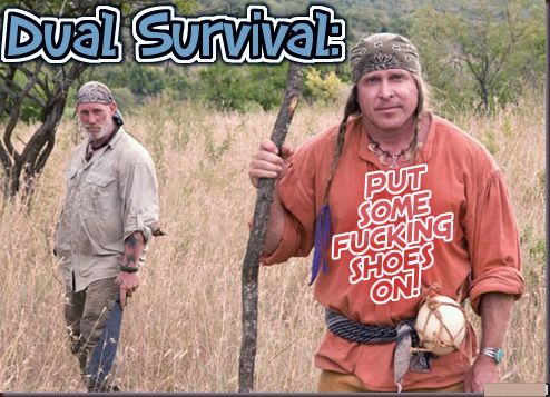 Dual Survival on Discovery Channel. Good outdoor survival TV show with interesting characters.