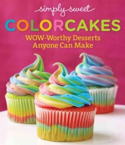 Get stunning rainbow looks for your favorite desserts--amazing tie-dye, ombre, layered, and hidden surprise inside color effects for cakes, cupcakes, and more, made easy. With Simply Sweet ColorCakes,
