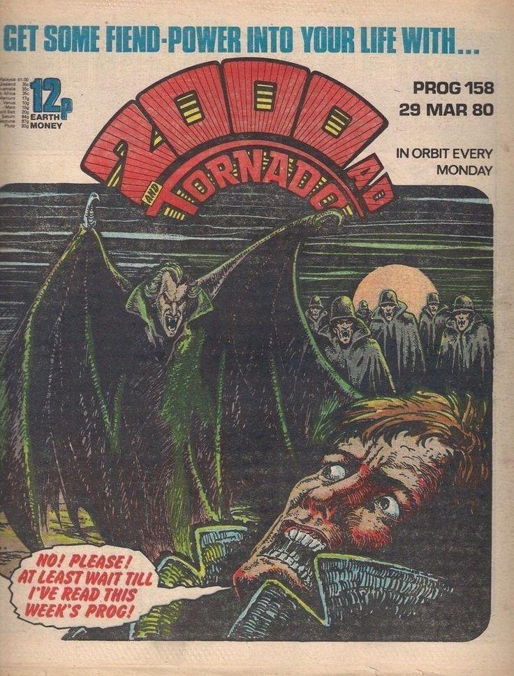 2000ad and TORNADO PROG 158 JUDGE DREDD 1980 I.P.C. comics f+(6.5) ~~