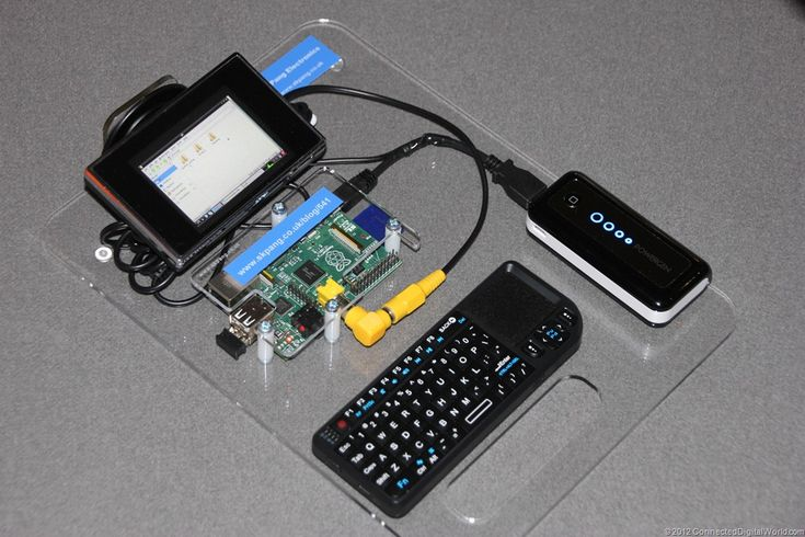 A look at a portable Raspberry Pi at the 2nd London Raspberry Jam  From:  http://connecteddigitalworld.com/2012/07/29/a-look-at-a-portable-raspberry-pi-at-the-2nd-london-raspberry-jam/