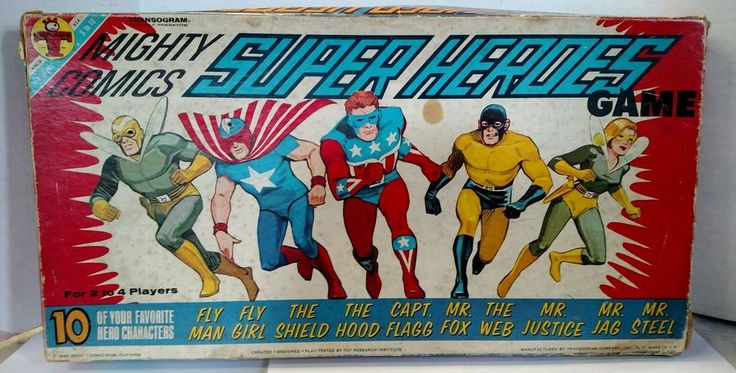MIGHTY COMICS SUPER HEROES GAME MLJ Transogram 1966 FLY MAN THE SHIELD THE WEB! in Toys & Hobbies, Games, Board & Traditional Games | eBay