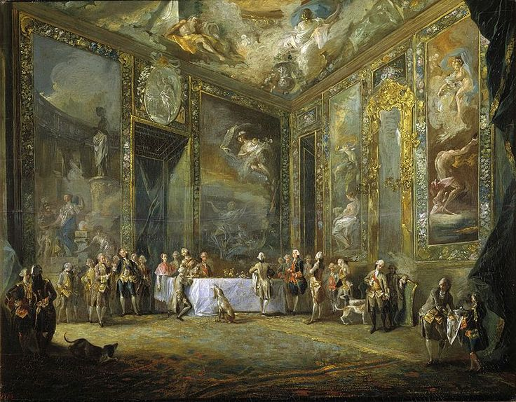 Charles III Dining before the Court, Alcazar