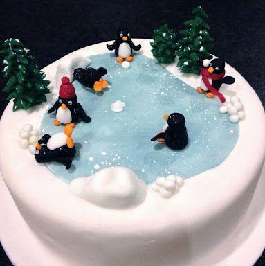 Christmas Cake Ideas Penguins : 1000+ ideas about Christmas Cake Decorations on Pinterest ...