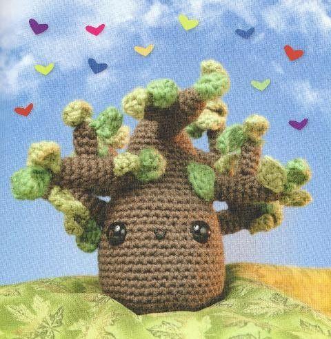 Amigurumi Neko Atsume Pattern : Amigurumi tree - free pattern- make little crochet hearts ...